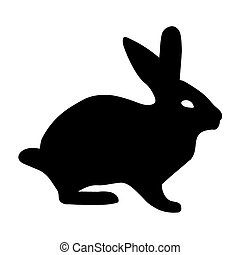 black silhouette of bunny
