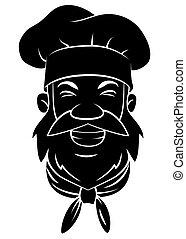 Black Silhouette Of Chef Head