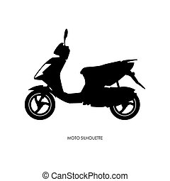 Black silhouette of city motorcycle