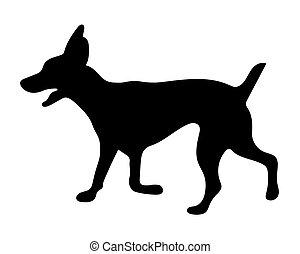 black silhouette of dog