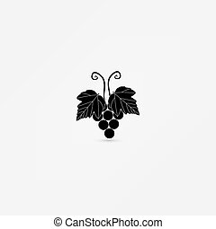 Black silhouette of grapes.