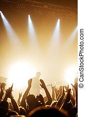 guitarist on rock concert