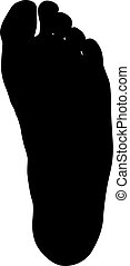 Black silhouette of leg on white background