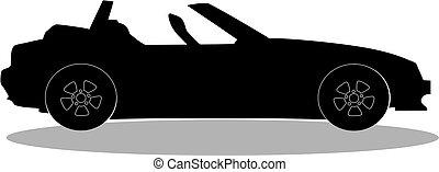 sport car without roof logo, sign, label, clip art for design.