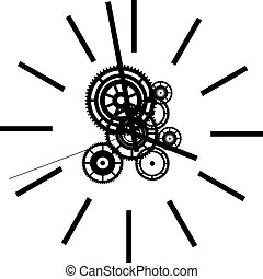 watch - Black silhouette of simple watch.