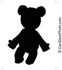 teddy bear - black silhouette of teddy bear