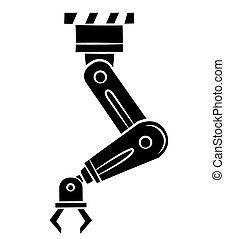 Black Silhouette : robotic hand technology