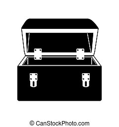black silhouette with tool box