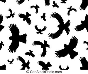 birds in flight, seamless