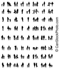 families in walking