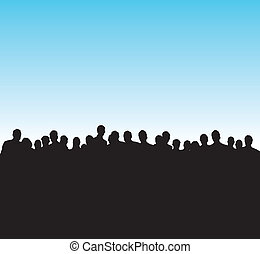 black silhouettes of people - silhouettes of people