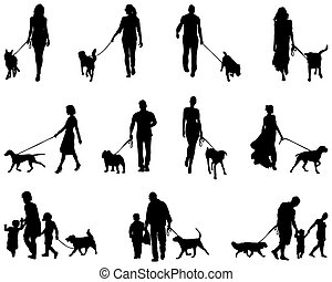 people with dog