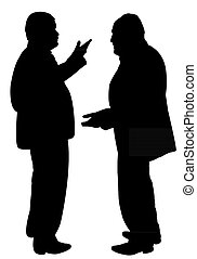black silhouettes of two men
