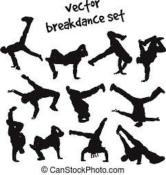 set of break dancers