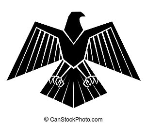 Black Silhoutte Of Eagle Symbol