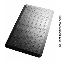 Black silicone mat isolated.