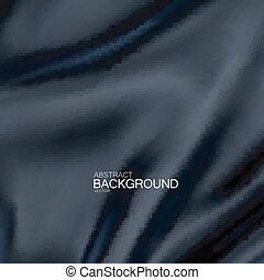 Black silk fabric.