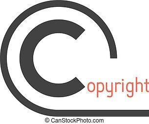 black simple copyright symbol