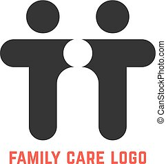 black simple family care logo