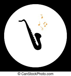 black simple isolated saxophone musical instrument eps10