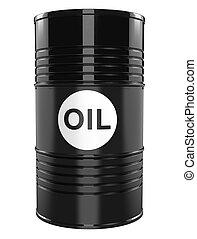 Black single oil barrel