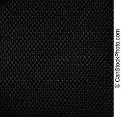 Black sintetic fabric as background