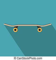 black skateboard icon- vector illustration