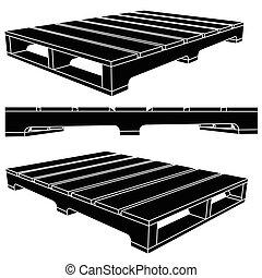 Black skid icon pallets