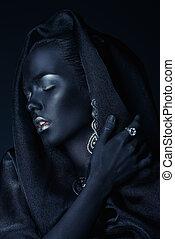 black skin beauty