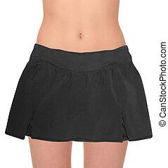 black skirt isolated