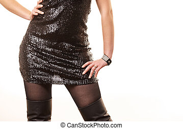 Black skirt with sequins
