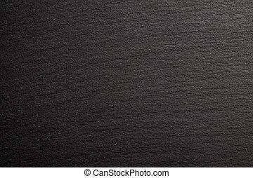 Black slate background.