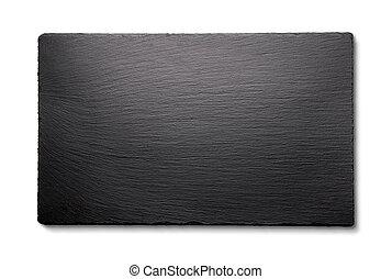 Black slate isolated on white