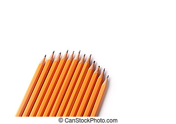 Black slate pencils isolated on a white background