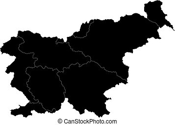 Black Slovenia map