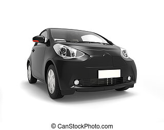 Black small urban modern electric car