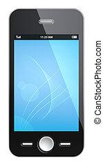 Black Smart phone.