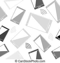 Smartphone and radio wi fi seamless wallpaper