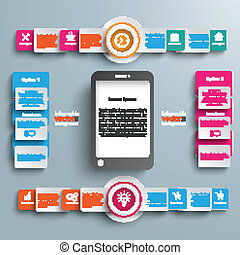 Black Smartphone Big Infographic 2 Circle Banners