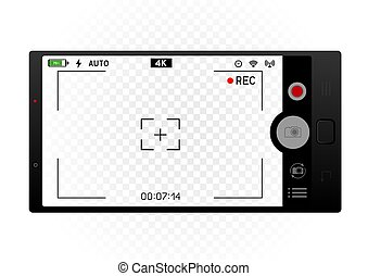 smartphone camera viewfinder template