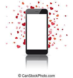 Black Smartphone Hearts