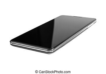 black smartphone  isolated