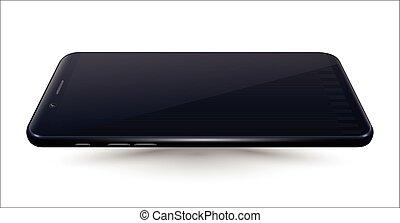 Black Smartphone mockup isolated