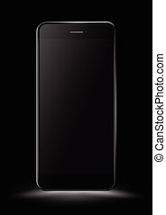 Black Smartphone mockup. Vector illustration.