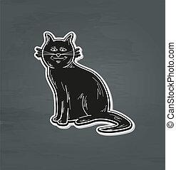 black smiling cat