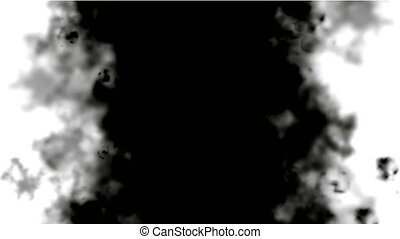 black smoke and steam in space