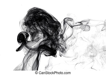 black smoke on a white background