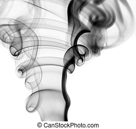 black smoke on white - abstract smoke shape background....