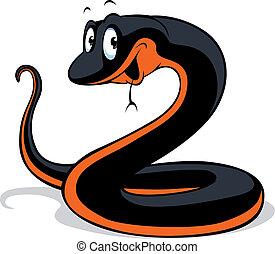 black snake cartoon