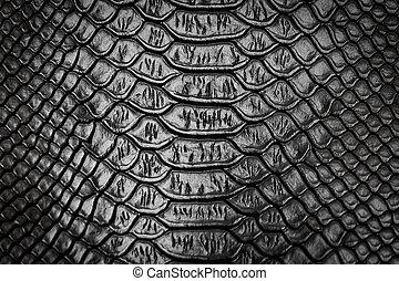 Black snake skin pattern texture